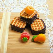 Sweet cake with strawberry — Stock Photo
