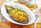Baked aubergine — Stock Photo
