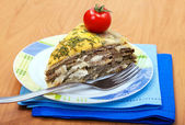 Tart of meat - liver with cheese — Foto de Stock