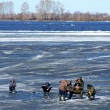 Fishermans on river Volga — Stock Photo #36995631