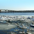 Spring. Drifting Ice on river Volga. — Stock Photo #36995745