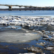 Spring. Drifting Ice on river Volga. — Stock Photo #36995761
