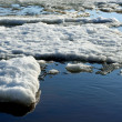 Stock Photo: Drifting Ice on river