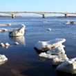 Spring. Drifting Ice on river Volga. — Stock Photo #36995845