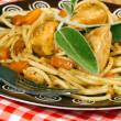 Italian Spaghetti with chicken — Stock Photo #37058809