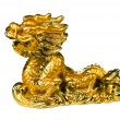 Orienatal symbol - golden dragon — Stock Photo