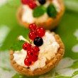 Tasty tarts with cottage cheese — Stock Photo #37059731