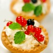 Tasty tarts with cottage cheese — Stock Photo #37059749