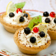 Tasty tarts with cottage cheese — Stock Photo #37059755