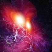 Space light storm — Stock Photo