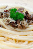 Italian Spaghetti with Cep — Stock Photo
