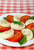 Italian cuisine - salad capreze — Stock Photo