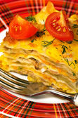 Italian cuisine Lasagna — Stock Photo
