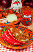 Calabria, locale food — Stock Photo