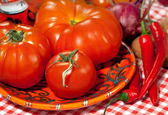 Italian cuisine - vegetables — Stock Photo