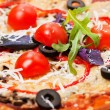 Food - tasty  italian pizza close-up — Stock Photo