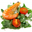 Salad of vegetables with shrimp — Stock Photo