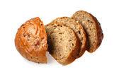 Black bread with bred grains — Stockfoto