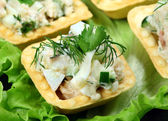 Salad in a baked — Stock Photo