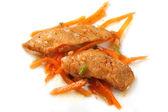 Korean Salad of fish — Stock fotografie