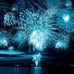 Celebratory blue firework — Stock Photo #37332061