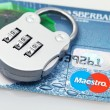 Plastic card and lock — Stock Photo #37332291