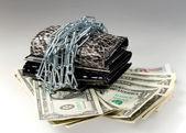 Bundle of five thousand bank notes — Stock Photo