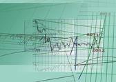 Graph of economics — Stock Photo