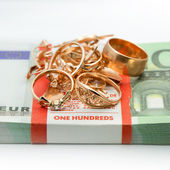 Jewelry and money — Foto Stock