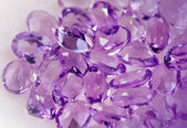 Jewelry gems - amethysts — Stock Photo