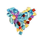 Jewelry gems - love — Stock Photo