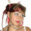 Stok fotoğraf: Girl with beautiful coiffure