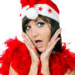 Stock Photo: Charming young womin santcap