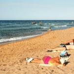 People on a beach, Egypt, Nabk bay — Stock Photo