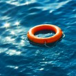 Ring-buoy in Sea — Stock Photo