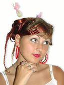 Girl with beautiful coiffure — Foto Stock