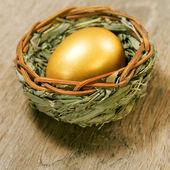 Uova di pasqua dorata — Foto Stock