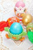 Celebratory Easter eggs — 图库照片