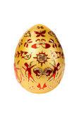 Huevo de pascua oro — Foto de Stock