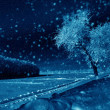 Winter weather at night — Stock Photo