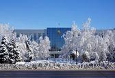 Winter weather in west Kazakhstan — Stock Photo