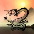 Stock Photo: East symbol 2012 year - dragon