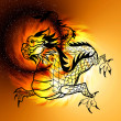 East symbol 2012 year - dragon — Stock Photo #37514407