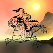 East symbol 2012 year - dragon — Stock Photo