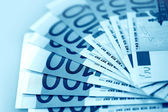Euro in blue color — Stock Photo