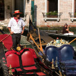 Venice. Gondolier — Stock Photo #37699005