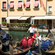 Stock Photo: Venice. Gondoliers