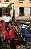 Venice. Gondolier — Stock Photo