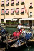 Venice. Gondoliers — Stock Photo