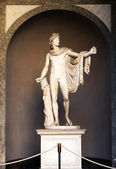 A sculpture Apollo Belvedere in Vatican — Stock Photo